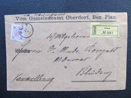 R-BRIEF Oberdorf B. Plan - Bludenz 15Kr EF 1897 ///  D*36369 - 1850-1918 Imperium