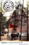 TIEGHEM - La Chapelle De Saint Arnould (avec Attellage) - Carte Colorée Et  Circulée En 1902 - Anzegem