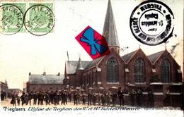 TIEGHEM - L'Eglise De Tieghem Des 11é Et 14é Siècles Restaurées - Carte Colorée Et Très Animée + Circulée En 1902 - Anzegem