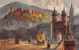 Germany Allemagne Duitsland   Heidelberg  Mit Der Alten Brücke Und Dem Denkmal Karl Theodor      X 5771 - Heidelberg