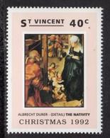 ST VINCENT - 1992 CHRISTMAS 40c DURER STAMP FINE MNH ** SG1993 - St.Vincent (1979-...)
