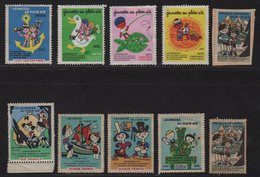 Vignettes - Lot De 10 Vignettes - Jeunesse En Plein Air 1950-1972 - Commemorative Labels