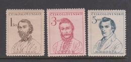 Czechoslovakia Scott 357-359 1948 Centenary Insurretion Against Hungary, Mint Never Hinged - Czechoslovakia