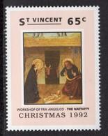 ST VINCENT - 1992 CHRISTMAS 65c FRA ANGELICO STAMP FINE MNH ** SG1997 - St.Vincent (1979-...)