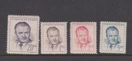 Czechoslovakia Scott 363-366 1948 President Gottwald, Mint Hinged - Czechoslovakia