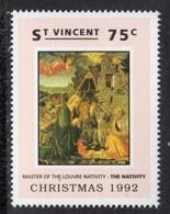 ST VINCENT - 1992 CHRISTMAS 75c LOUVRE NATIVITY STAMP FINE MNH ** SG1998 - St.Vincent (1979-...)