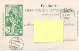 """CP """"jubilé De L'union Postale Universelle"""". Obl. Fleurier - NE Neuchâtel"""