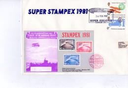 Stampex 1981-Avions,Zeppelin, Deutsche Lufpost-FDC - Zeppelins
