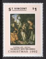 ST VINCENT - 1992 CHRISTMAS $1 LIPPI STAMP FINE MNH ** SG1999 - St.Vincent (1979-...)