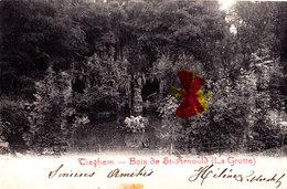 TIEGHEM - Bois De Saint Arnould - ( La Grotte) - Carte Circulée En 1913 - Anzegem