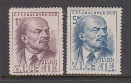 Czechoslovakia Scott 370-371 1949 Lenin Death 25th Anniversary, Mint Never Hinged - Czechoslovakia