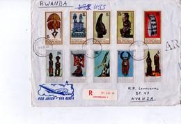 Burundi 1967-Masques,devant De  Lettre Recommandée Envoyée Vers Le Rwanda- - Burundi