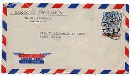 ECUADOR - AIR MAIL COVER TO ITALY / BANCO DE PRESTAMOS-QUITO / BANK - Ecuador