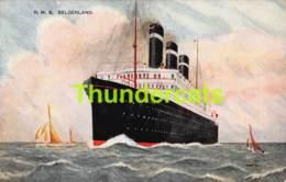 CPA ILLUSTRATEUR PAQUEBOT PASSENGER SHIP R M S BELGENLAND - Paquebots
