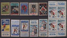 Vignettes - Lot De 14 Vignettes - Ecole Publique Republicaine - Commemorative Labels