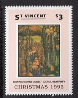 ST VINCENT - 1992 CHRISTMAS $3 BURNE-JONES STAMP FINE MNH ** SG2001 - St.Vincent (1979-...)