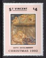 ST VINCENT - 1992 CHRISTMAS $4 GIOTTO STAMP FINE MNH ** SG2002 - St.Vincent (1979-...)
