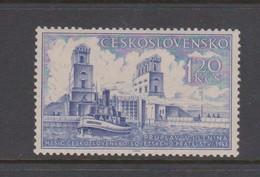 Czechoslovakia Scott 623 1953 Soviet Friendship Month 1.20 K Blue, Mint Hinged - Czechoslovakia