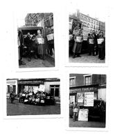 4 Photos 1954 - VINCENNES Rue Ray.du Temple - Cellule Du PCF - VENDEURS  JOURNAL L'HUMANITE -Vente De Masse Pour Les 50 - Lieux