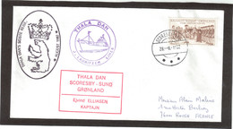 E46 - Groenland PO98 SCORESBYSUND Du 28.8.1982. SUPERBE CACHET ILLUSTRE DU THALA DAN. - Franse Zuidelijke En Antarctische Gebieden (TAAF)