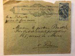Enveloppe De 1900 à En-tête De Kuranstalt Schoneck - Post Telegraph - Timbre Jubilé Union Postale Universelle - Suisse