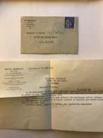 Enveloppe Et Correspondance De Aout 1939 à En Tete Du Notaire De Lavardin (Sarthe) - Francia