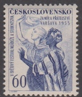 Czechoslovakia Scott 706 1955 5th Youth Festival, Mint Never Hinged - Czechoslovakia