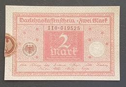 EBN8 - Germany 1920 Banknote 2 Mark P.59  WEIMAR REPUBLIC - [ 3] 1918-1933 : República De Weimar