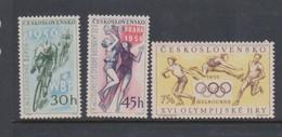 Czechoslovakia Scott 747-749 1956 Sports, Mint Never Hinged - Czechoslovakia