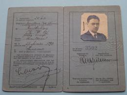 Carnet D'Identité Pour OFFICIER De RESERVE * 1940 * Barthelemy 1899 Annevoie ( Prijsvermindering Vervoer 25 % )! - Dokumente