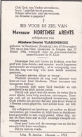 Hautmont, Idegem, 1944, Hortense Arents, Vlassenbroek - Images Religieuses