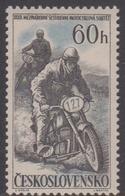 Czechoslovakia Scott 815 1957 32nd Motorcycle International Race, Mint Never Hinged - Czechoslovakia