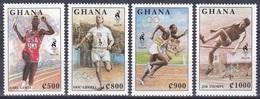 Ghana 1995 Sport Spiele Olympia Olympics Atlanta Leichtathletik Athletics Carl Lewis Jesse Owens Thorpe, Mi. 2186-9 ** - Ghana (1957-...)