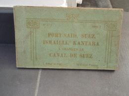 Carnet Cartes Postales Port-Saïd, Suez, Ismailia, Kantara à Travers Le Canal De Suez - Suez