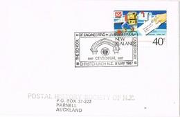 31332. Carta CHRISTCHURCH (New Zealand) 1987. Ingenieria Universitaria Canterbury - Nueva Zelanda