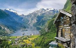 GEIRAGER Viaggiata Fiordo Nave Boau Cruise - Norwegen
