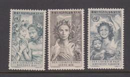 Czechoslovakia Scott 905-907 1959 10th Anniversary Human Rights, Mint Never Hinged - Czechoslovakia