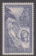 Czechoslovakia Scott 913 1959 Political And Cultural Knowledge Congress, Mint Never Hinged - Czechoslovakia