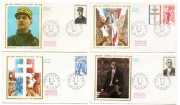 FDC France 1971 - Hommage Au Général De Gaulle - YT 1695 à 1698 - Nord - FDC