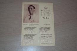STORIA POSTALE FRANCHIGIA 2 GUERRA ILLUSTRATA AMEDEO DI SAVOIA LA CANZONE DEL DUCA DI FERRO - 1900-44 Vittorio Emanuele III