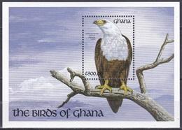 Ghana 1991 Tiere Fauna Animals Vögel Birds Oiseaux Aves Uccelli Adler Eagle Schreiseeadler, Bl. 179 ** - Ghana (1957-...)