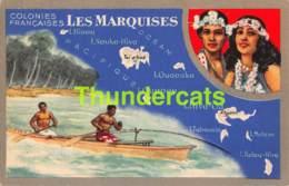 CPA COLONIES FRANCAISES LES MARQUISES  PRODUITS CHIMIQUE SLION NOIR - Polynésie Française