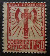 RARE TIMBRE De SERVICE N°8 1F50 Brun-Rouge NEUF Sans GOMME Cote 45€ PAS D'AMINCI - Mint/Hinged