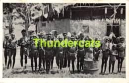 CPA PAPOEA BEVOLKING IN FEESTDOS MANOKWARI NW G NUDE NAKED MEN MAN NU HOMME GARCON - Papouasie-Nouvelle-Guinée