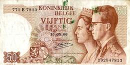 BILLET BELGIQUE 50 FRANCS DE 1966 - Otros