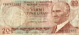 BILLET TURQUIE 20 TURK LIRASI - Turquie