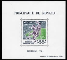 MONACO BLOCS  FEUILLETS  SPECIAUX  FOOTBALL JEUX OLYMPIQUES DE BARCELONE 1992 N°18  NEUF ** - Blocs