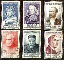 SUPERBE SERIE PAUL VALERY N°989 à 994 Oblitéré CàD Cote 186 Euro PAS D'AMINCI - Used Stamps