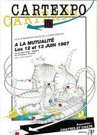 BOURSE SALON DE COLLECTIONS CARTEXPO 10  1987 CHATS ET CHATTES  ILLUSTRATEUR MAUGER - Bourses & Salons De Collections