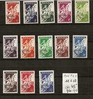 MONACO Série Complète Des Préoblitérés De 1954-59 - Monaco